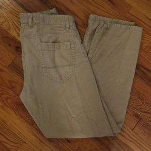 Izod Straight Fit Light Tan Corduroy Pants 32x30